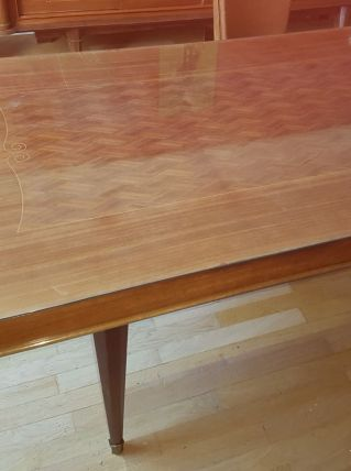table années 50 bois massif