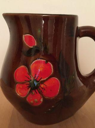 Vase Pichet Vintage En Céramique De Bresse