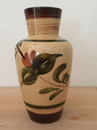 Vase Vintage  En Céramique Aux Couleurs d'Automne