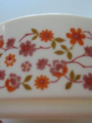 2 saladiers arcopal vintage scania fleurs 1 de 17 cm et un 2