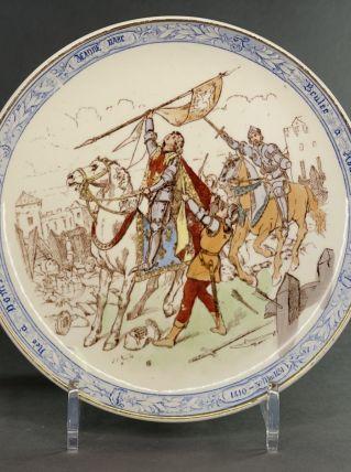 Assiette historique Jeanne d'Arc