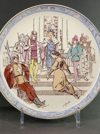 Assiette Jeanne d'Arc Creil et Montereau n°3