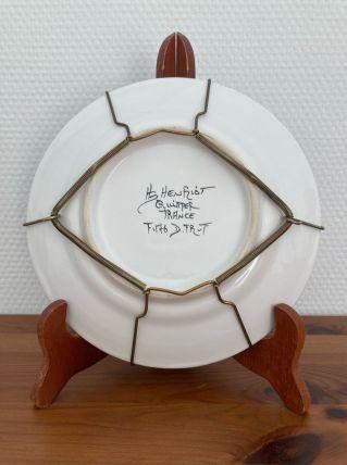 Assiette HB Henriot Quimper
