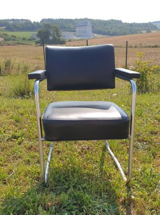fauteuil bureau  noir, photo.usure industriel Ossature tubul