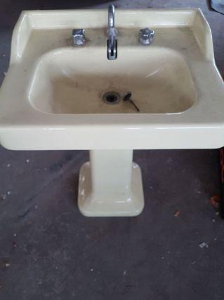 lavabo colonne vintage