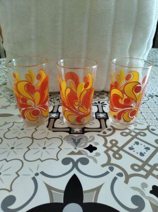 3 verres retro