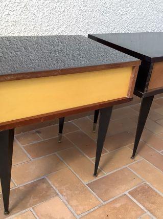 2 tables de chevet année 50-60