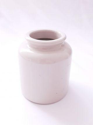 Vase gres blanc cassé