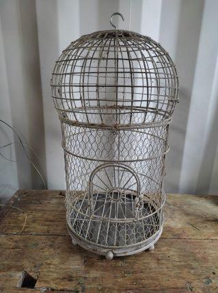 cage oiseaux métal patiné déco ancienne dp0921f70