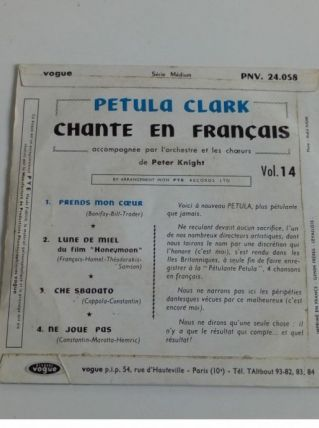 45 tours collection Petula Clark-Prends mon coeur