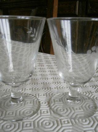 Lot de 2 verres à pied vintage