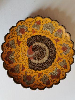 Assiette métallique décorative
