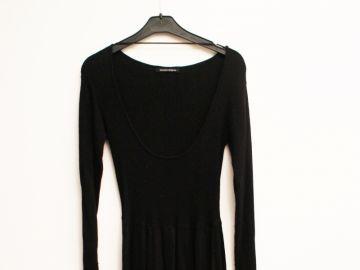 Robe Longue Maille Noire Luckyfind