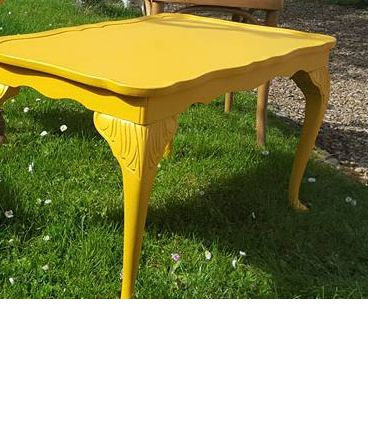 Table basse jaune – Luckyfind