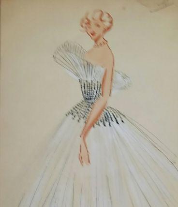 Croquis Mode 1950/ Robes de bal
