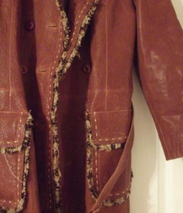 manteau cuir vintage
