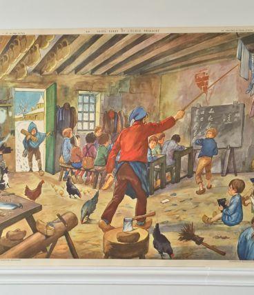 Affiche scolaire Rossignol école / siège de Paris