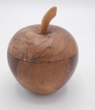 Boîte pomme en olivier