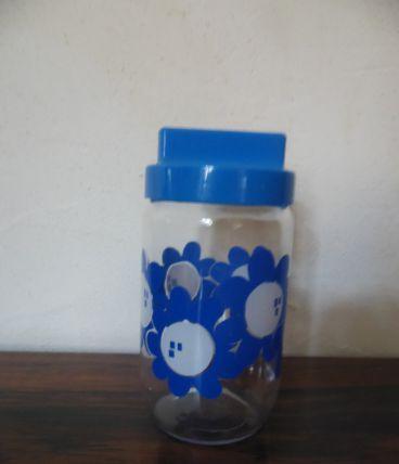 Pot HENKEL fleur bleu 70's