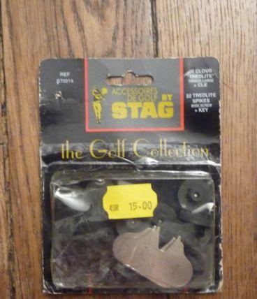 1 Set de 22 Crampons/clous noir tredlite- Golf -Spikes- Embase Large+clé- ST0214