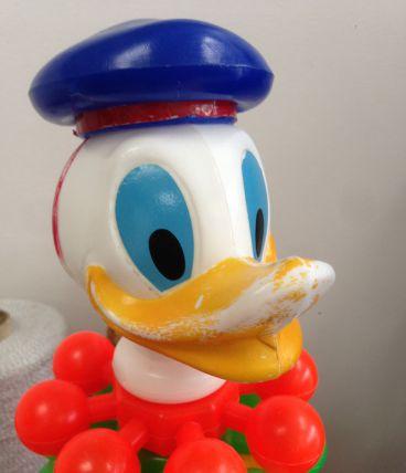 Jouet vintage tête de Donald