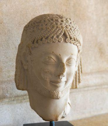 Tête grecque ancienne Cavalier Rampin