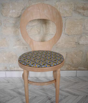 Chaise Baumann Mouette rénovée en wax