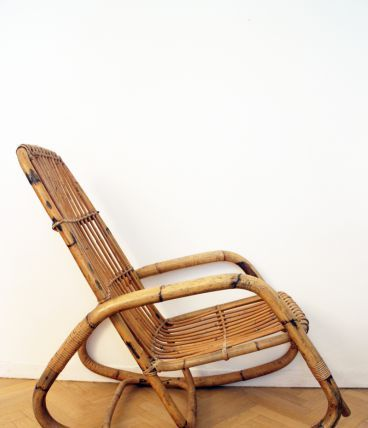 GRAND Rocking chair vintage 60's