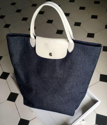 Sac LONGCHAMP pliage bleu jean