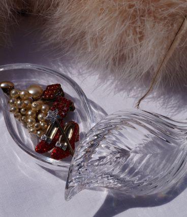 Boîte à bijoux en verre
