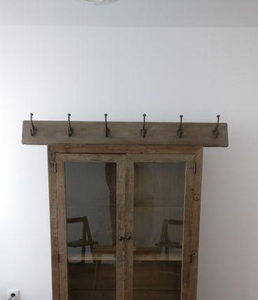 Bibliothèque en bois d ' orme NEUF et Vestiaire