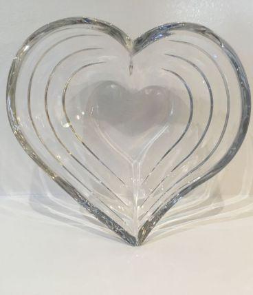Coupelle en cristal en forme de coeur