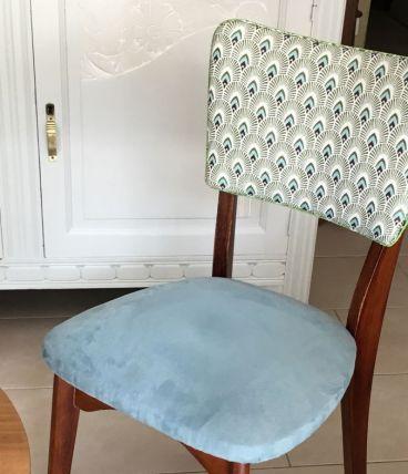 Paire de chaises vintage refaites