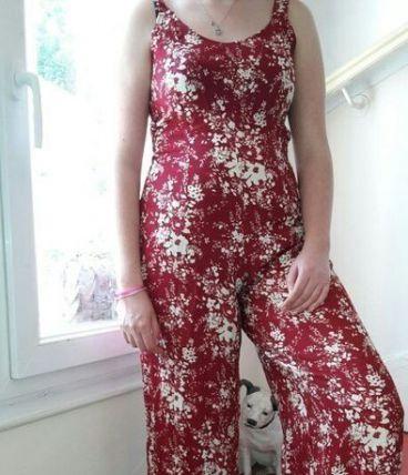 combinaison pantalon motif fleur T2/38-40 tomans