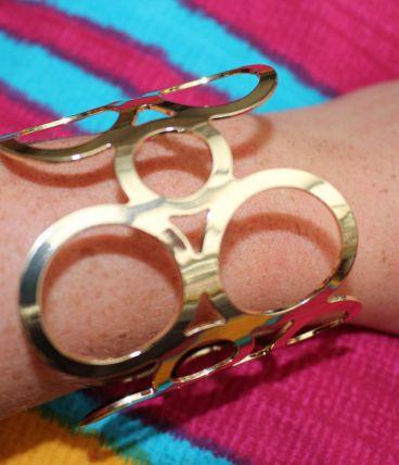 bracelet rond effet dore bulle