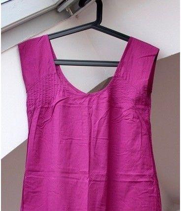 Mini robe rose boutonnée dans le dos taille XS