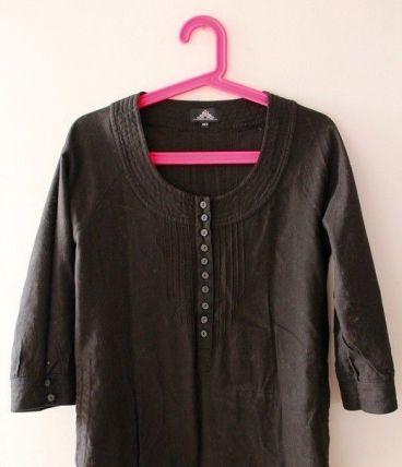 Blouse en coton noir taille 38