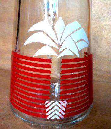 Carafe palmier Vintage
