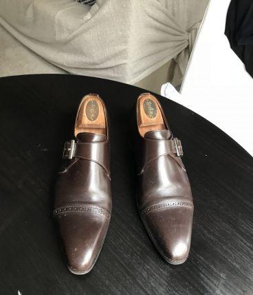 Finsbury marron à boucles - taille 43