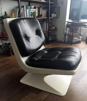 Fauteuil design vintage Grofillex d'Albert Jacob