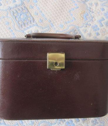 Vanity case Cuir marron