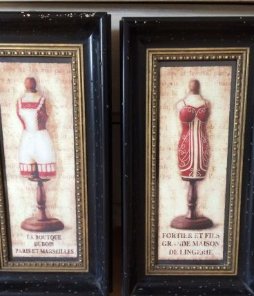 Deux tableaux thème mannequins