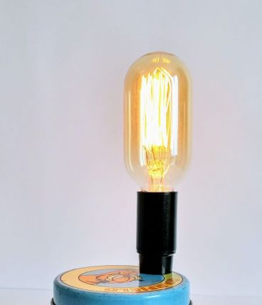 "Lampe vintage, lampe de bureau, lampe de chevet -  ""Garfield"