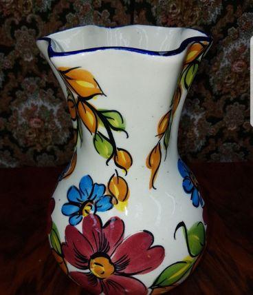 Vase ceramique fleurie