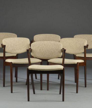 6 chaises en chêne - Kai Kristiansen