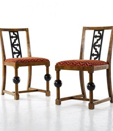 Une paire de chaises Art Déco