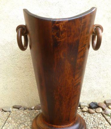 Porte parapluie ancien en bois ,vintage