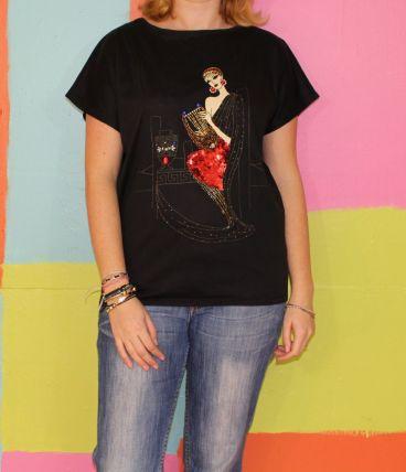 haut T-shirt bijoux déesse T40-42 vintage/retro