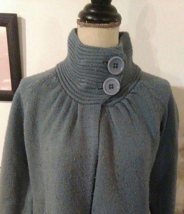 Pull ouvert laine bleu 38/40 la redoute