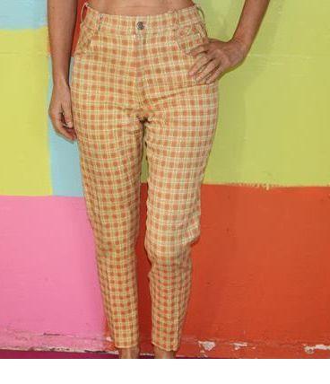 pantalon motif carreaux tartan T2/36-38 new show room vintag